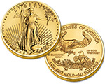 Gold eagle coin