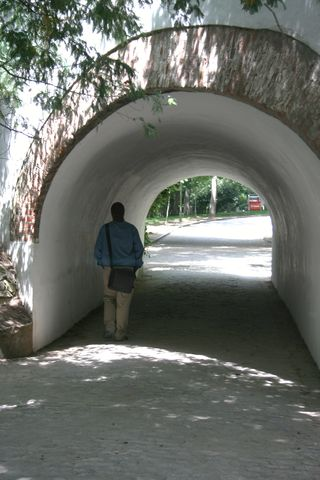 Man in Tunnel Madrid Park
