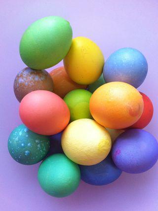 Easter Eggs Pile
