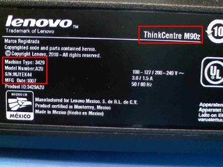 Laptop M90z Label