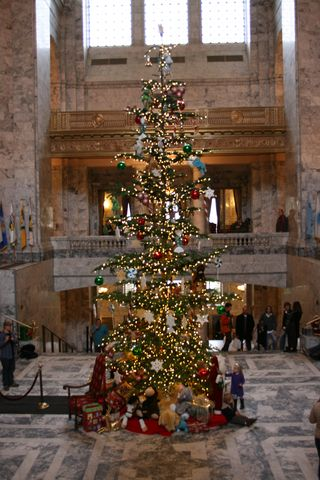 Olympia Capitol Christmas Tree