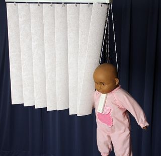 Blinds Doll Hanging