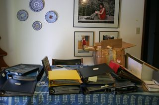 Photo Project on Table Two Boxes