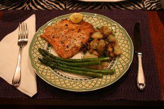 Salmon Dinner IMG_6826