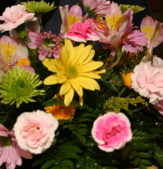 Centerpiece Flowers From a Banquet