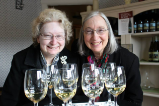 Wine Tasting Rita and Myrna