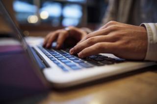Computer Hands Typing
