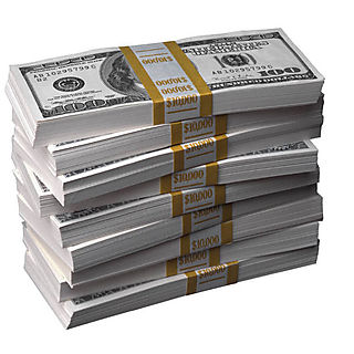 Money_stack $100 Bills