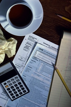 Income Tax 1040 Form Coffee