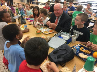USDA Secretary Perdue Eats With School Children