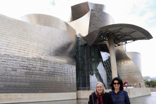 Rita Robison With Her Daughter at the Guggenheim in Bilbao Spain