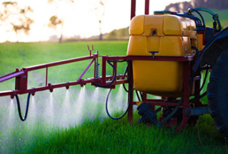 Pesticide Being Sprayed in the Field