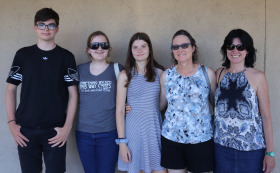 Rita Robison With Lisa Robison and Her Children and Mona Robison and Her Daughter Rachel