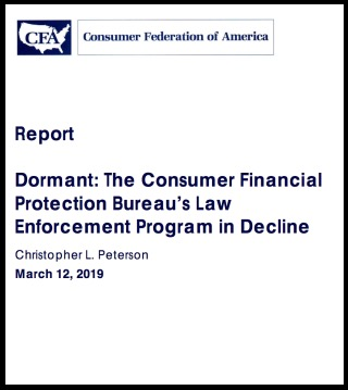 Consumer Federation of America Report on Consumer Complaints