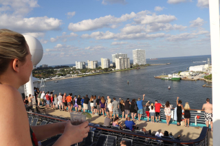 Royal Caribbean Cruise Ship Sailing Out of Fort Lauderdale