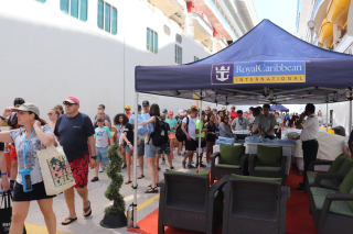 Passengers Getting Off Royal Caribbean Cruise Line Ship