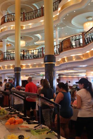 Dining Room on Cruise Ship Royal Carribean