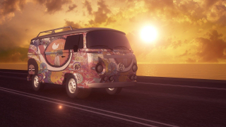 Hippie Van From the 1960s-780804_1280