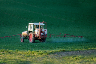 Pesticide Being Sprayed By Tractor on Field-4089881_1280