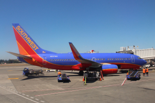 Southwest Airlines Airplane Sitting on the Tarmac in Sacramento