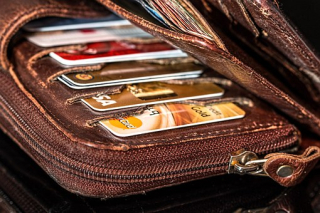 Wallet-With Credit Cards Showing