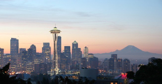Seattle city-skyline-Sunset 693502__340