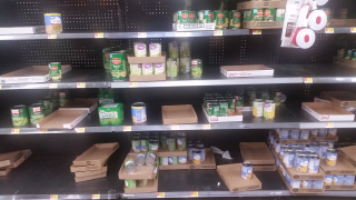 Walmart Bare Shelves Due to Cornovirus
