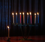 Hannukah Candles Nine Lighted in Various Colors-3856149_640