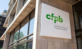 CFPB Building With Its Logo on the Side of Its Building