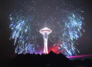 Space Needle Light Show 2 1-1-21