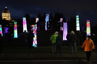 Glowing Monoliths in Olympia  Wash Park 2-6-21