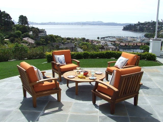 Patio Furniture Outside on Deck Overlooking Water -172642_640