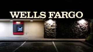 Wells Fargo at Night Drive Up