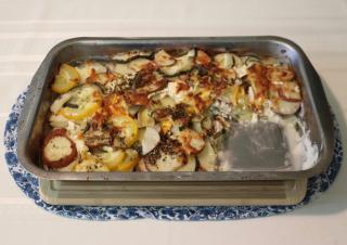 Potato  Zucchini  and Cheese Gratin Casserole