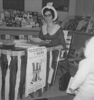 Rita Robison Voter Registration Tumwater Safeway 1968