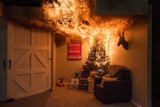 CPSC Christmas Tree Burn in Bright Flames 2019