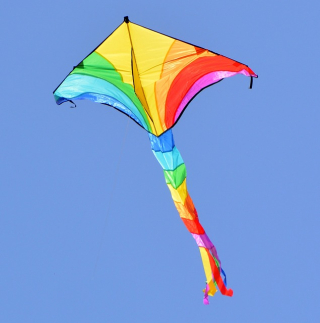 Kite in the Air Red Yellow Blue-927205_640