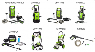 Spray Guns for Pressure Washing by Greenworks and Powerworks Recalled due to Injury Hazard