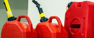 Gas Cans Red Three